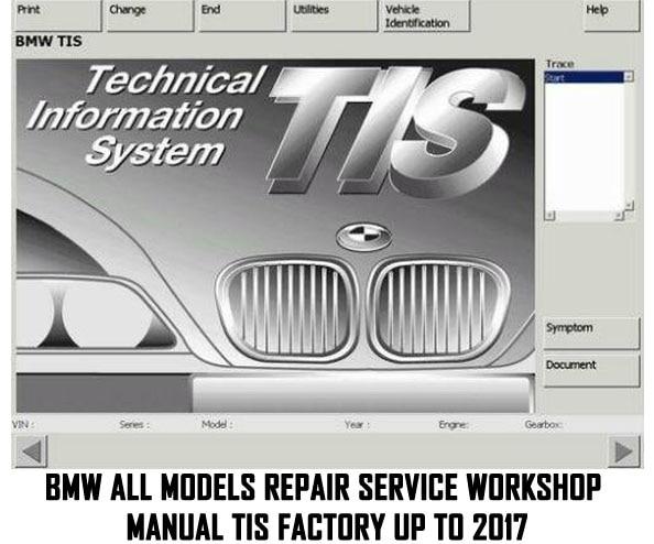Ручная мастерская для ремонта всех моделей BMW TIS Factory до 2017
