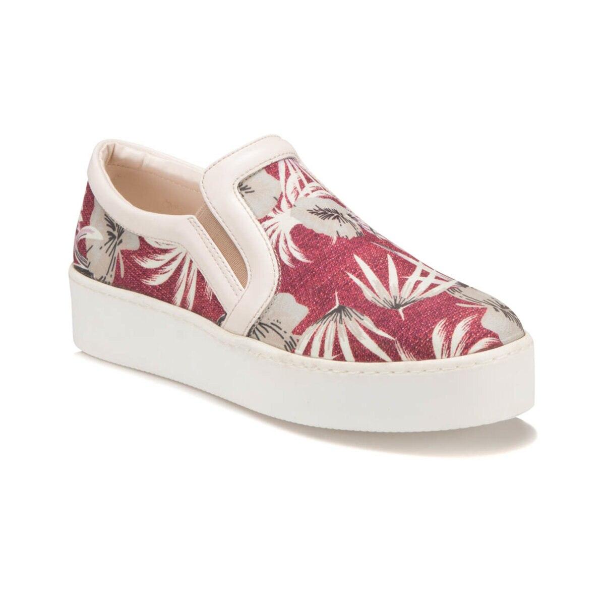FLO S796 Burgundy Women Slip On Shoes BUTIGO
