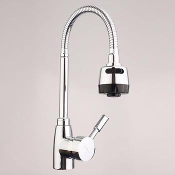 Chrome Kitchen Sink Faucet 360° Rotate Spout Basin Bathroom Hot & Cold Water Mixer Tap