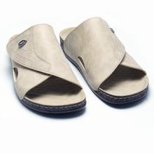 Anatomic Men Leather Quality Slipper  with Strip Comfort Insoles