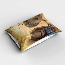 Else Brown amarillo Vintage gramófono notas de música rectángulo moderno fundas de almohada 3d fundas de almohada de estampado digital fundas para sofá cama