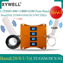 LTE B20 800 900 1800 2100mhz Four-Band 4g signal Cellula Amplifier gsm 2g 3G repeater 4G Mobile Signal Booster  WCDMA DCS