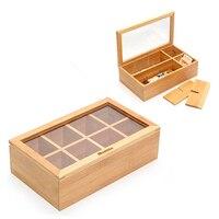Box für Infusionen Quttin Bambus (30X16x9 cm)-in Faltbare Taschen aus Heim und Garten bei
