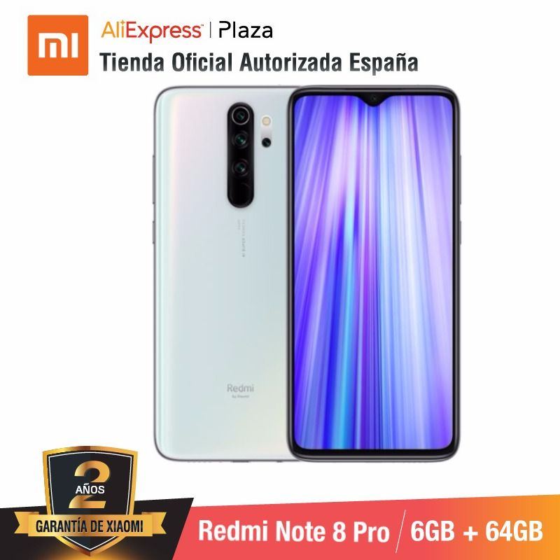 Redmi Note 8 Pro (64 Гб Встроенная память с 6 ГБ Оперативная память, камера de 64 мп, Android, Nuevo, Móvil) [мобильный телефон Case версия глобальная para Испании] - 4