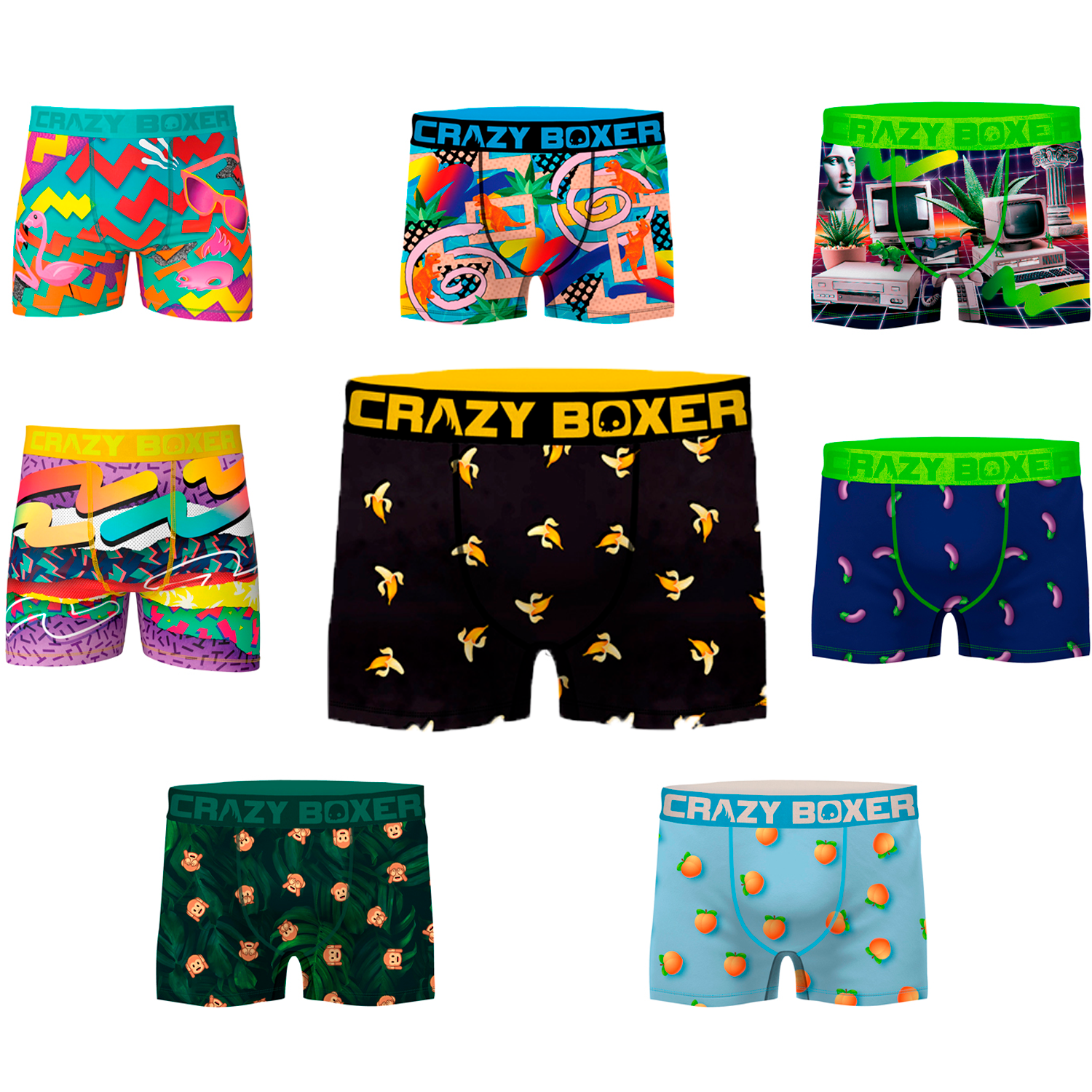 CRAZY BOXER Underwear Boxer Type Stamping 8 Models To Choose
