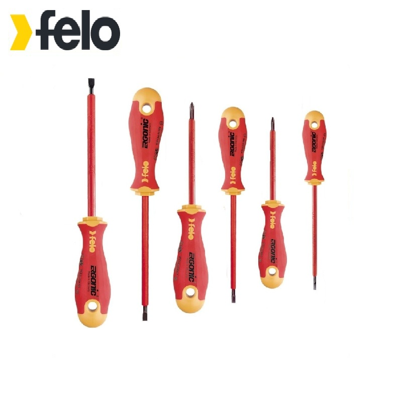 Felo Dielectric Screwdriver Set Ergonic 6 pcs Used for installation and dismantling works with fasteners under voltage 6 90degree 0 3mm diamond bits with high quality used for cnc router machine