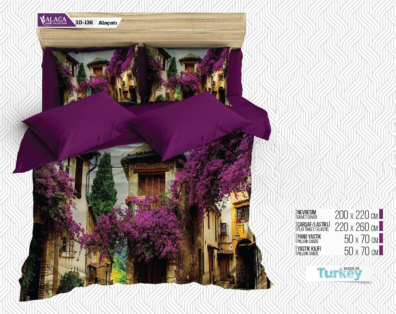 Estilo Linens 6 Piece Turkish Textile Luxury Soft 1800 Series Premium Bed Sheets Set,
