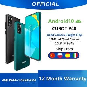 Cubot P40 задний Quad Camera смартфон Четыре камера NFC телефон 4 Гб + 128 ГБ 6,2 дюйма 4200 мАч Большая Батарея новая Google Android 10 система две sim-карты мобильные ...