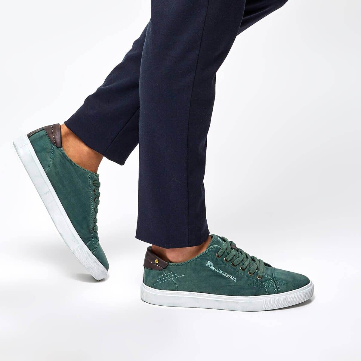 FLO Green Men Sneaker 2020 New Casual Shoes Men Flat Shoes Lace-up Low Top Sneakers Tenis Masculino LUMBERJACK DALTON