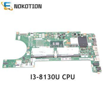 NOKOTION For Lenovo Thinkpad L480 L580 laptop motherboard EL480 EL580 NM-B461 Mainboard SR3JY I3-8130U CPU