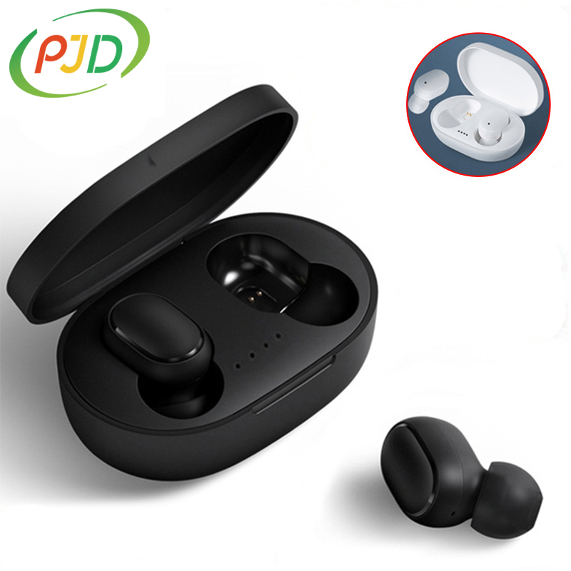 PJD A6S Plus TWS Wireless Bluetooth Headsets Earphones Stereo Headphones Sport Noise Cancelling Mini Earbuds for All Smart Phone