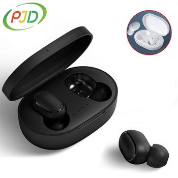 PJD A6S TWS bezprzewodowe słuchawki na Bluetooth słuchawki For Xiaomi Redmi słuchawki douszne z redukcją szumów dla wszystkich telefonów Smart tanie i dobre opinie Zaczep na ucho Dynamiczny CN (pochodzenie) Prawda bezprzewodowe 122dB Monitor Słuchawkowe Do Gier Wideo Wspólna Słuchawkowe