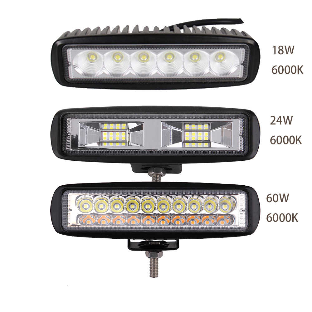 "ECAHAYAKU 6 "" 12V LED Work Light Bar Spot Flood Beams Driving Fog Off Road LED Work Car Light for Ford Toyota SUV 4WD LED Light"