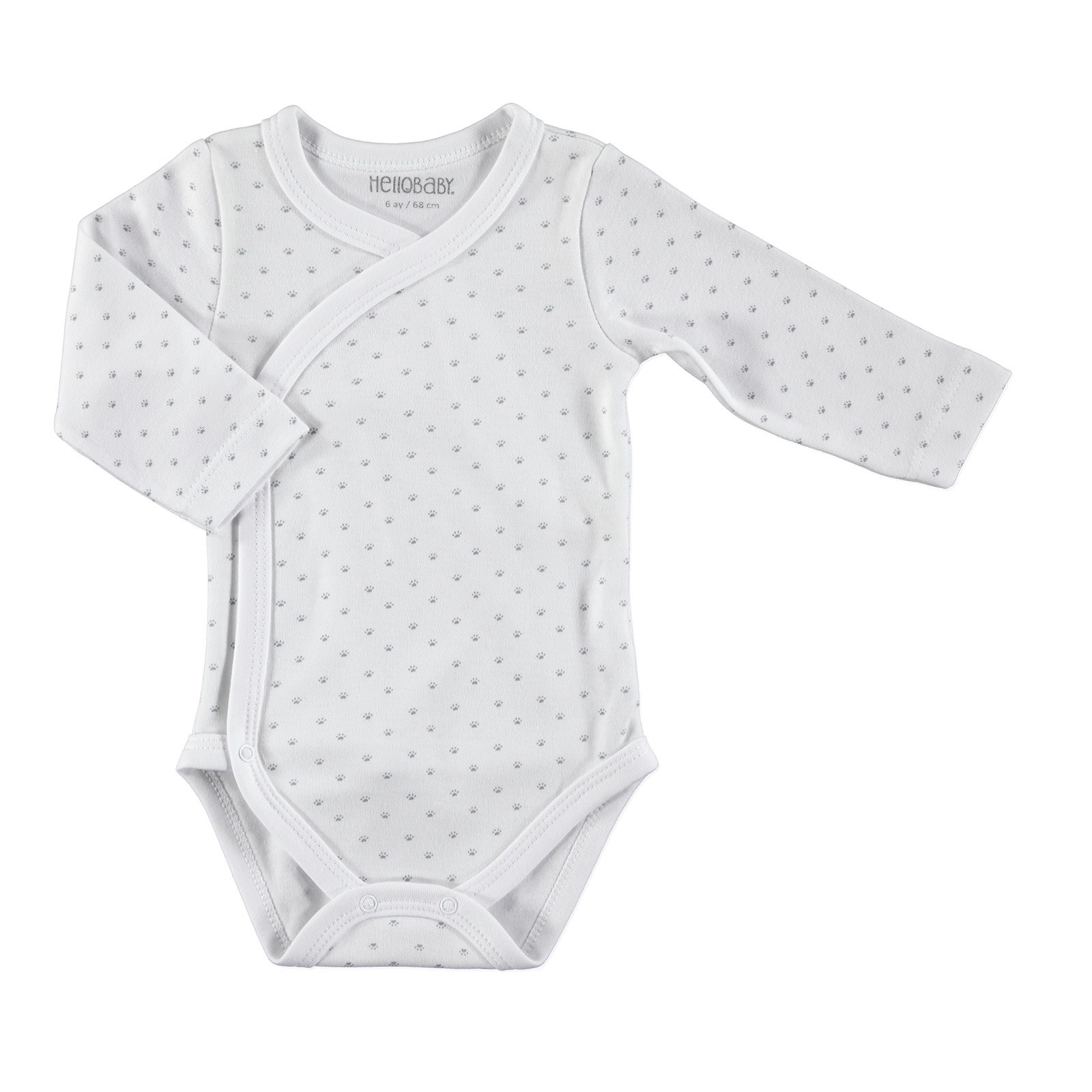 Ebebek HelloBaby Little Cute Paws Baby Long Sleeve Bodysuits