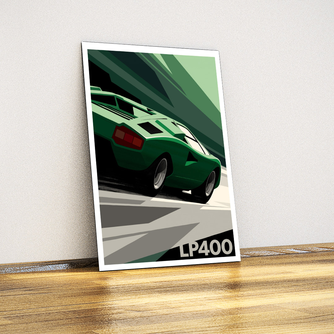 Lamborghini Countach-Tin Sign Poster