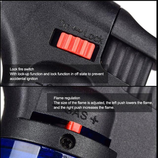 Encendedor de Gas a prueba de viento, encendedor Turbo de butano, encendedor de gasolina recargable, encendedor de Gas, antorcha, encendedores, herramienta de cocina