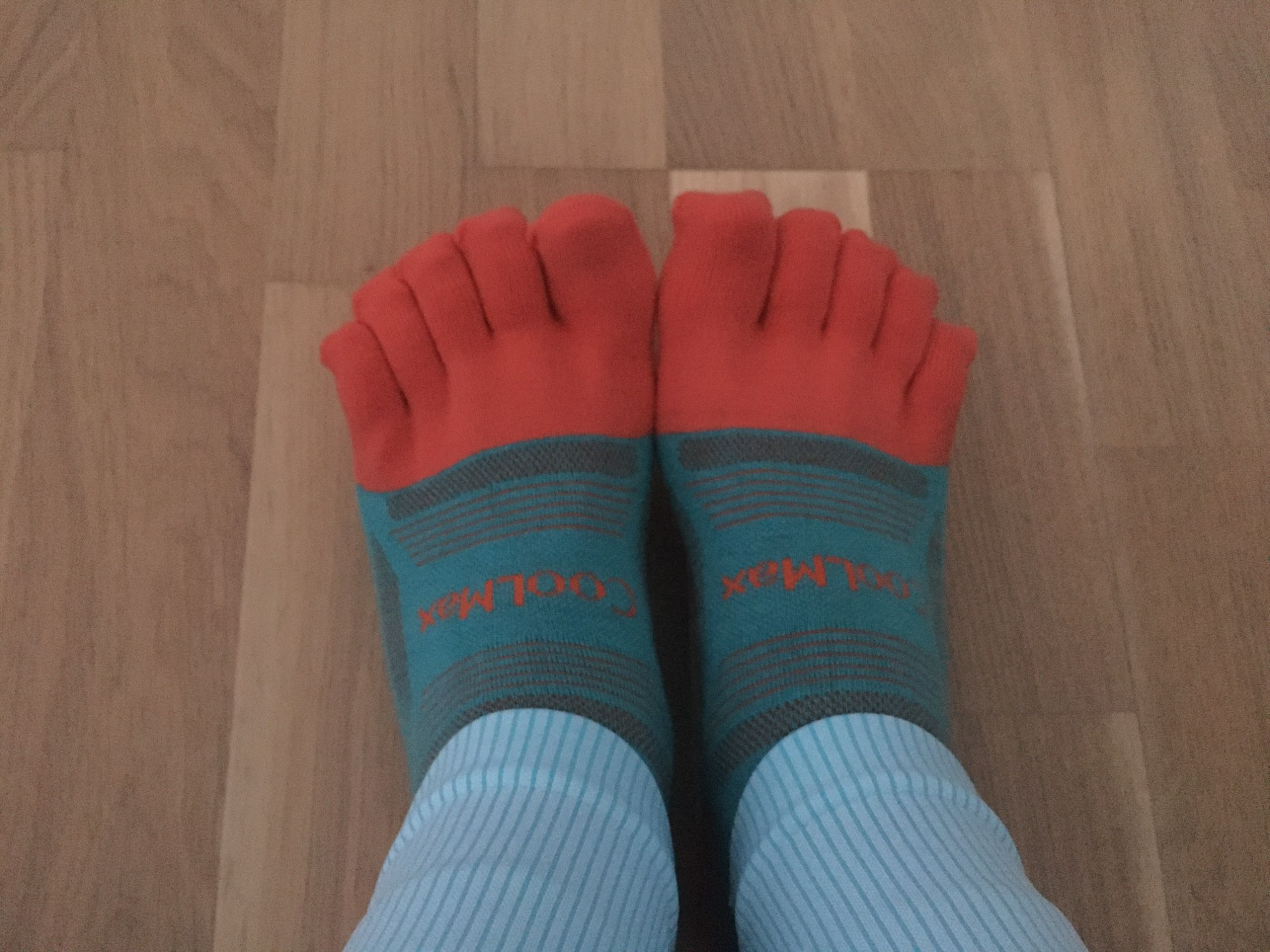 Colorful Coolmax Athletic Toe Socks 3 Pairs Set photo review
