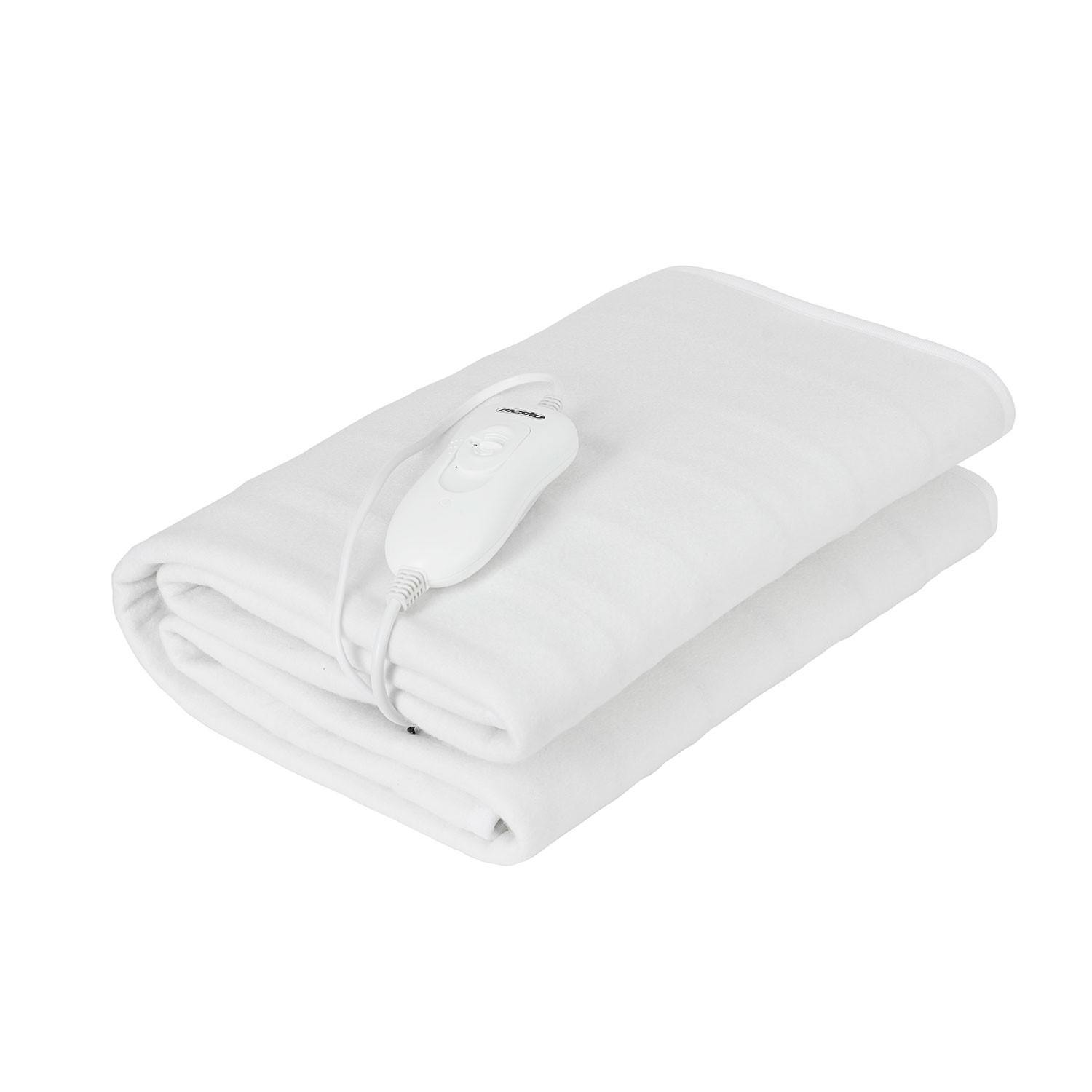 Mesko MS7419 Heated Electric Beds 150x80 Cm 3 Levels Temperature, Timer, Washable, Polar Fleece White, 60W