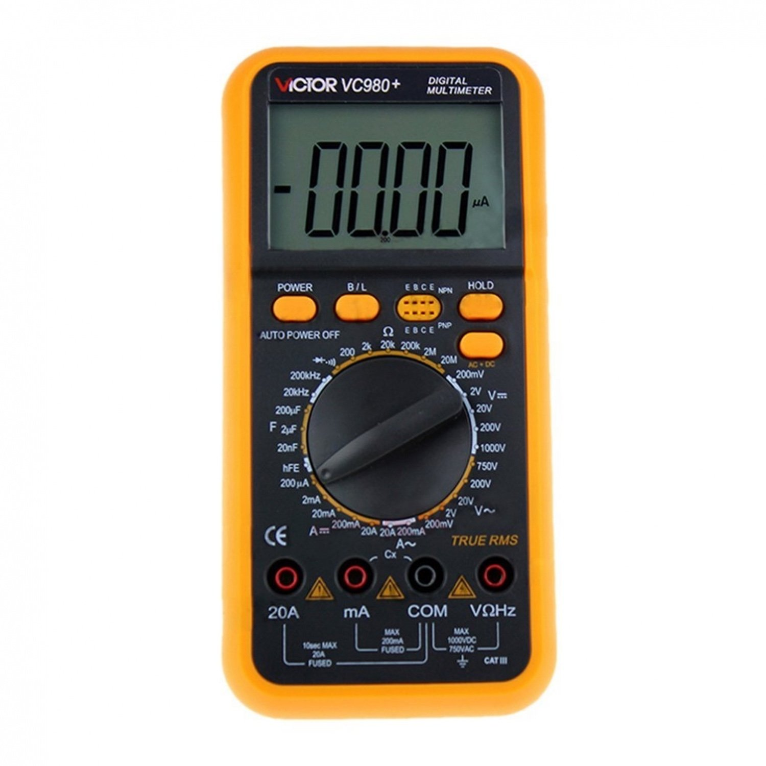 Digital TRUE RMS Multimeter VICTOR VC980 + victor vc890c digital multimeter true multimeter capacitor temperature measurement multimeter digital professional