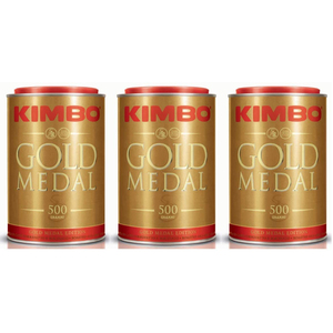 Kimbo kit ground coffee- (3 cans 500g) Edition Gold Medal