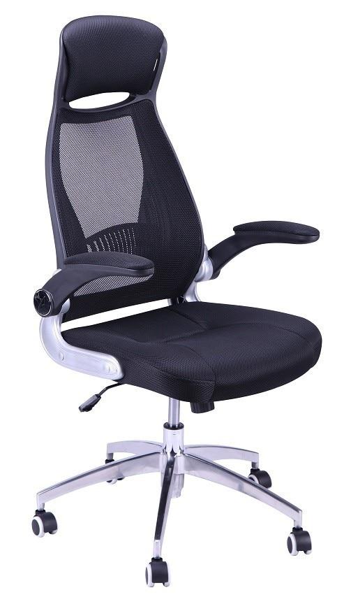 Office Armchair THOMAS, Gas, Rocker, Mesh And Black Fabric