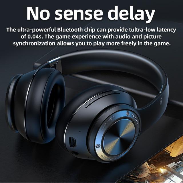 Eison jogo fones de ouvido sem fio baixo atraso fone super efeito som stero dobrável para xiaomi iphone telefone 6