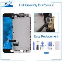 Sınıf AAA kaliteli iPhone 7 için LCD ekran dokunmatik ekran Digitizer tam meclisi + çerçeve + ön kamera + araçları tek tek Test