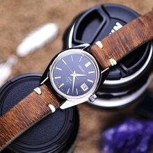 Bracelet de montre en cuir véritable fait à la main, Design Vintage, couture, bracelet en cuir de veau, boucle métallique, 8 couleurs, 18 20 22 24mm