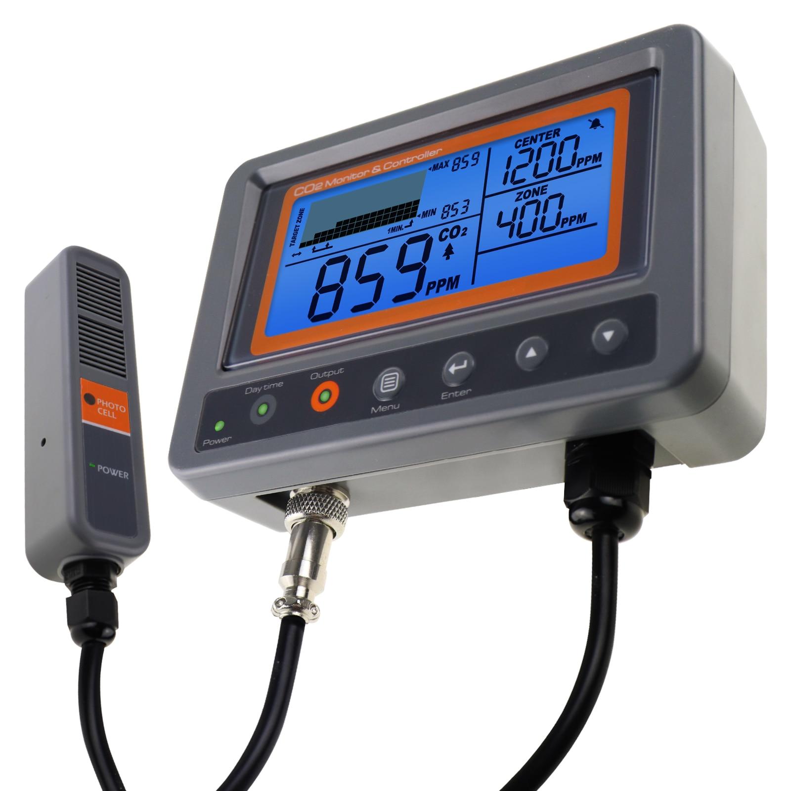 Цифровой настенный углекислого газа CO2 контроллер монитор качества воздуха в помещении w/реле Функция & NDIR Пробник Для зеленый дом, офис