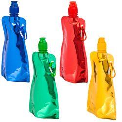Petaca plegable con carabina de 400ML para senderismo y caminar para niños y niñas hermosos y cómodos brillantes