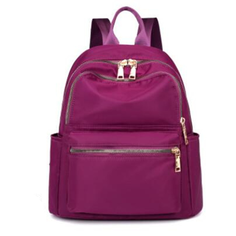 Factory Wholesale New Fashion Sports Ladies Backpack Outdoor Nylon Leisure Travel Red Backpack