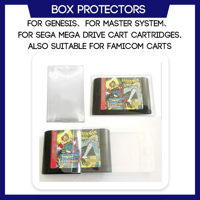 Box Protector For Genesis For Master System For Sega Mega Drive For Famicom Game Cart Cartridges Plastic Case image