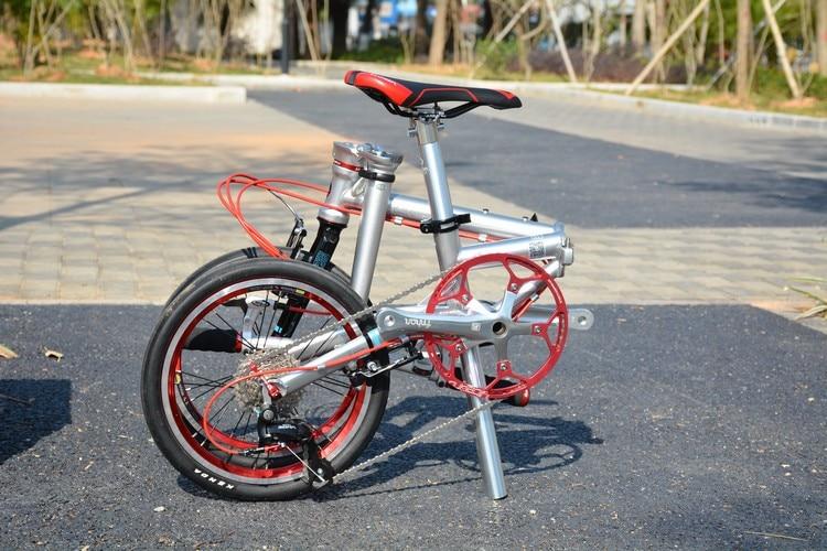 "U8f413fcc1d5f4bf3a2c8d7c63a09ee0dv Fnhon Gust CR-MO Steel Folding Bike 16"" 305 349 Minivelo Mini velo Bike Urban Commuter Bicycle V Brake 9 Speed"
