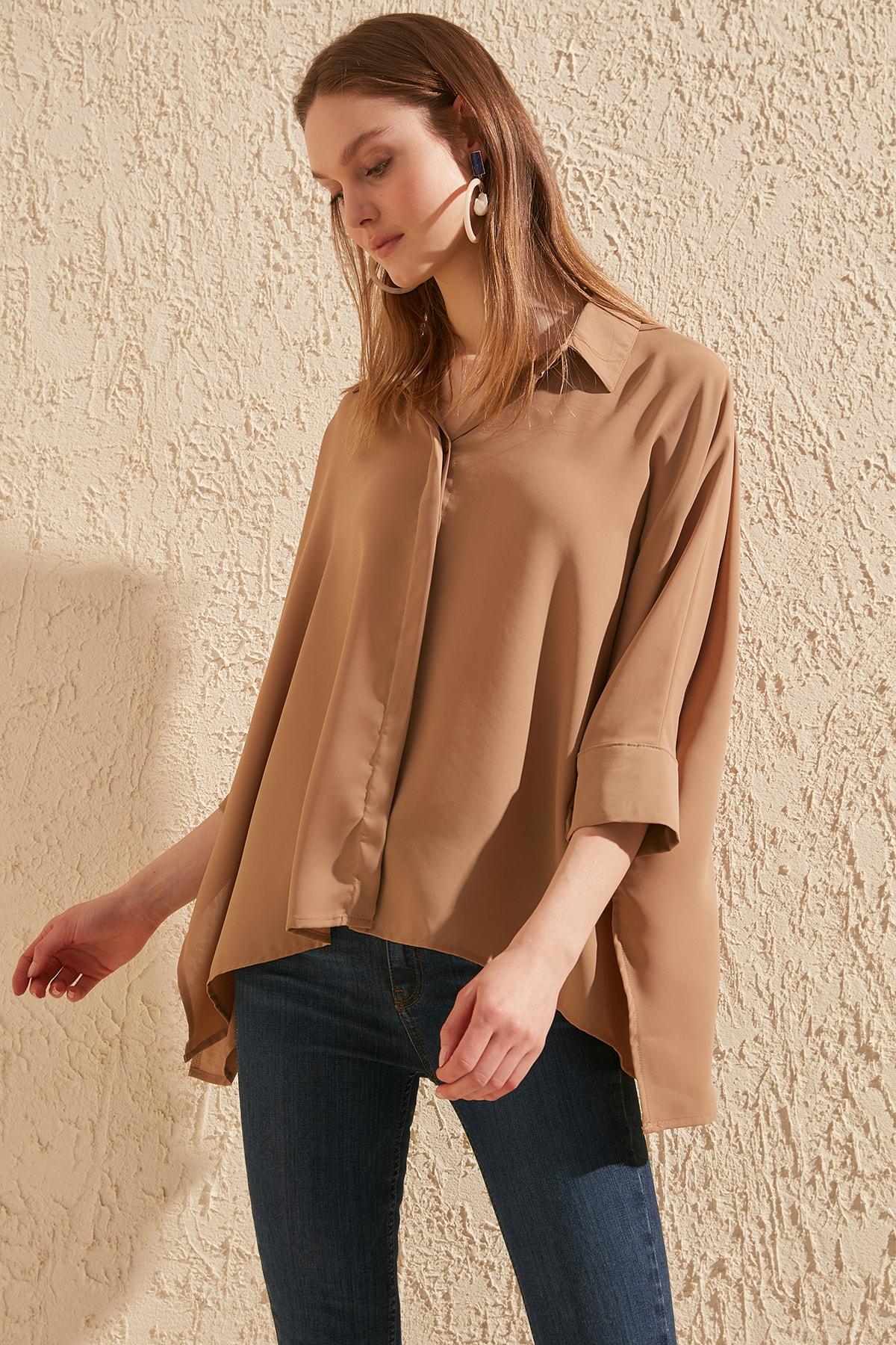 Trendyol Asymmetrical Shirt TWOSS20GO0200