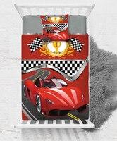 Outra Corrida de Carros Esporte Preto Branco Vermelho Da Bandeira Do Bebê Menino Crianças dos miúdos 3d Impressão Única Colcha Tampa de Cama Presente Combinar fronha|Capa de edredom| |  -