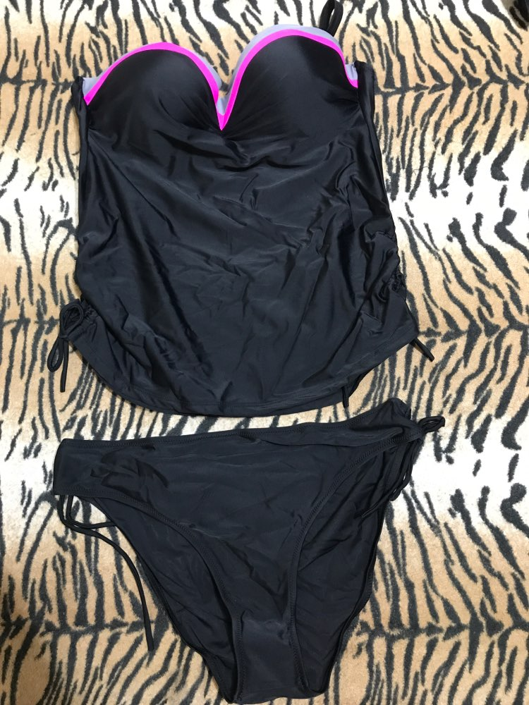 NAKIAEOI New Swimwear Women Swimsuit Push Up Tankini Set Vintage Retro Bandage Bathing Suit Beach Wear Plus Size Swimwear M~3XL-in Body Suits from Sports & Entertainment on AliExpress