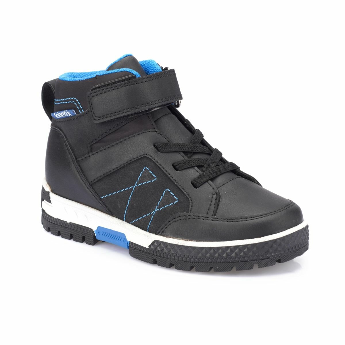 FLO KARBIN Black Male Child Sneaker Shoes KINETIX