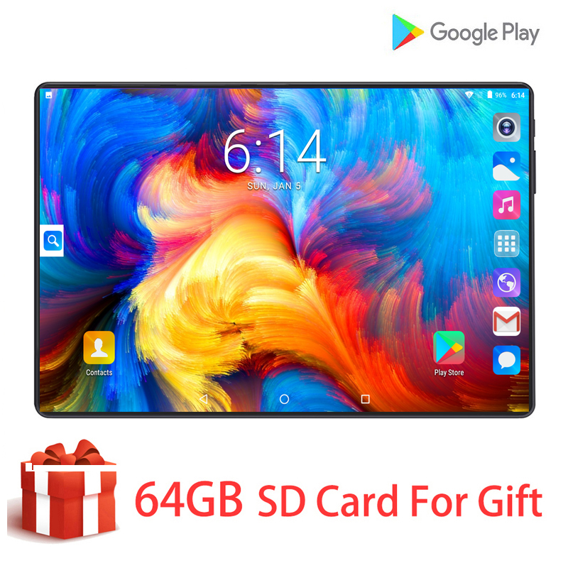Multi-Language Original Pad 4G LTE 128GB Tablets MTK ARM Octa-Core 10'' HD Screen Android 9.0 Kids Tablet PC+ Gifts