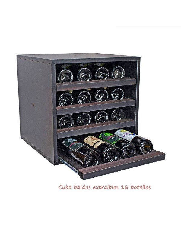 Cubo Combinable 4 Baldas Extribles Negro