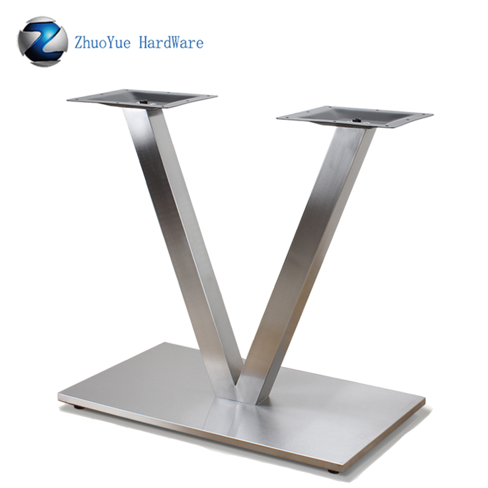 zhuoyue furniture industrial legs black v shape style metal coffee table legs super heavy duty dining table base