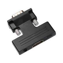 1 pces kphrtek 1080 p sinal hdmi um vga áudio 5 v dc adaptador conector