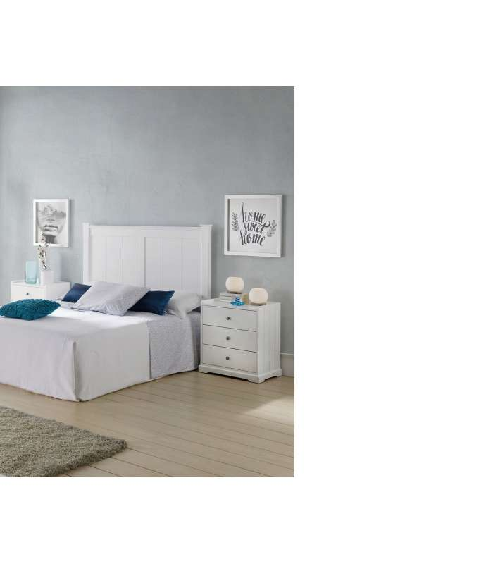 Set Headboard Neo And 2 Side Tables With 3 Drawers.