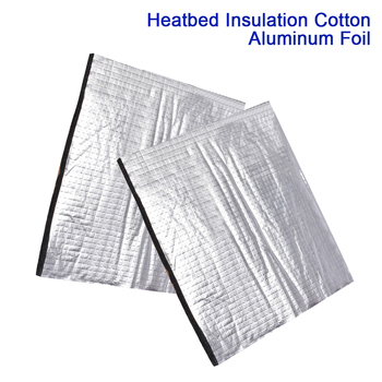 Heated Bed Insulation Cotton 200mm 220mm 300mm Self-adhesive Aluminum Foil Sticker Heat Sound Insulation Sheet 3D Printer Parts image