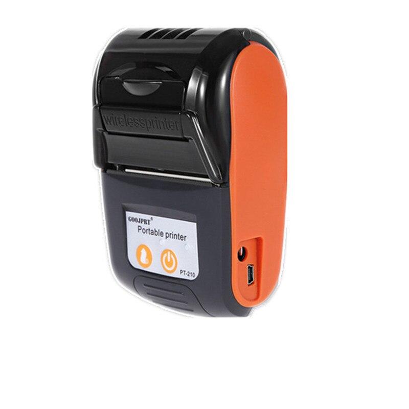 GOOJPRT машина получение PT210 Порты и разъёмы в состоянии принтер Беспроводной Bluetooth Термальность принтер с USB Порты и разъёмы для Android iOS суперма...