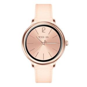 Image 3 - RUNDOING NY12 שעון אופנתי לנשים חכם שעון עגול למסך עגול עבור צג קצב לב הילדה תואם לאנדרואיד ו  IOS