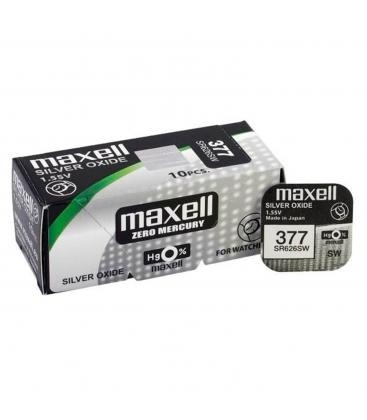 Pilas De Boton Maxell Bateria Original Oxido De Plata SR626SW Blister 5X Uds