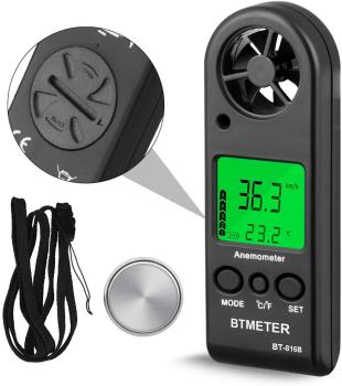 BEMETER Handheld LCD Digital Mini Anemometer BT-816B Wind Speed Meter Air Flow Tester Air Anemometer or HVAC CFM Shooting Boat tenmars tm 401 handheld digital multifunctional anemometer air velocity meter