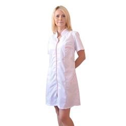 Female medical robe IVUNIFORMA Silhouette white peach piping