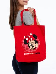 Canvas bag Minnie Mouse. Best Girl Ever , Red Disney unisex stylish bag