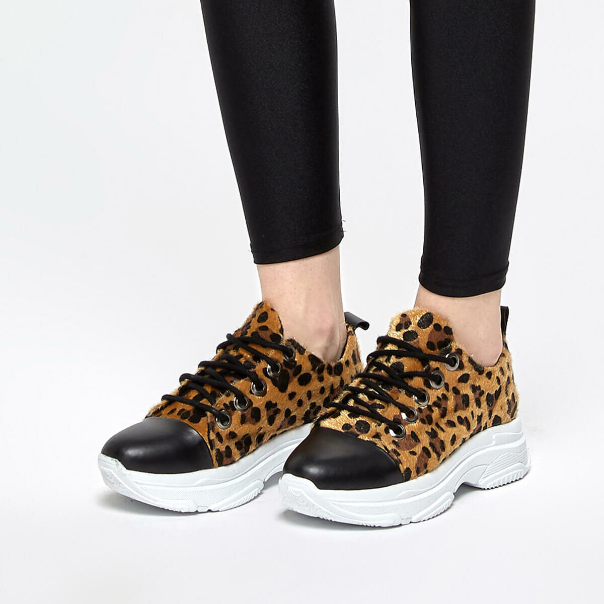FLO FABRE89Z SUEDE Leopard Women 'S Sneaker Shoes BUTIGO
